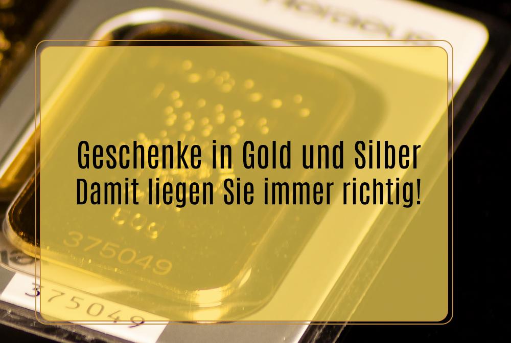 Geschenke in Gold und Silber