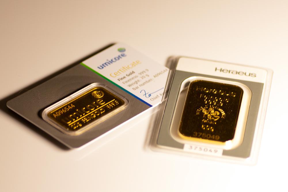 Goldbarren verstecken
